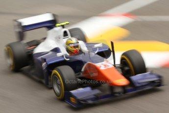 World © Octane Photographic Ltd. Thursday 22nd May 2014. GP2 Practice – Monaco, Monte Carlo. Johnny Cecotto - Trident. Digital Ref : 0959CB7D2270