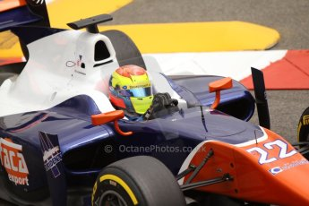 World © Octane Photographic Ltd. Thursday 22nd May 2014. GP2 Practice – Monaco, Monte Carlo. Sergio Canamasas - Trident. Digital Ref : 0959CB7D2280