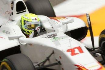 World © Octane Photographic Ltd. Thursday 22nd May 2014. GP2 Practice – Monaco, Monte Carlo. Kimiya Sato - Campos Racing. Digital Ref : 0959CB7D2285