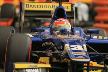 World © Octane Photographic Ltd. Thursday 22nd May 2014. GP2 Practice – Monaco, Monte Carlo. Felipe Nasr - Carlin. Digital Ref : 0959LB1D4556