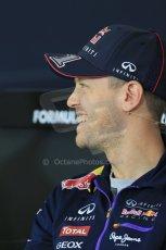 World © Octane Photographic Ltd. Thursday 17th July 2014. German GP, Hockenheim Formula 1 FIA Press Conference. Infiniti Red Bull Racing RB10 - Sebastian Vettel. Digital Ref: 1033LB1D3781