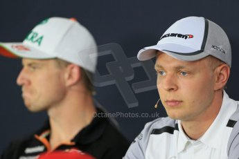 World © Octane Photographic Ltd. Thursday 17th July 2014. German GP, Hockenheim - Formula 1 FIA Press Conference. McLaren Mercedes MP4/29 – Kevin Magnussen. Digital Ref: 1033LB1D3793