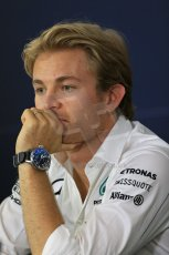 World © Octane Photographic Ltd. Thursday 17th July 2014. German GP, Hockenheim - Formula 1 FIA Press Conference. Mercedes AMG Petronas F1 W05 Hybrid - Nico Rosberg. Digital Ref: 1033LB1D4114