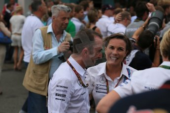 World © Octane Photographic Ltd. Sunday 20th July 2014. German GP, Hockenheim. - Formula 1 Parc Ferme. Williams Martini Racing – Claire Williams. Digital Ref: 1052LB1D8777