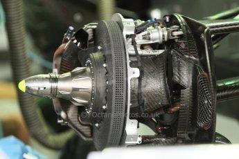 World © Octane Photographic Ltd. Sunday 20th July 2014. German GP, Hockenheim. - Formula 1 Pitlane. Mercedes AMG Petronas F1 W05 Hybrid front brake (with disc) – Lewis Hamilton. Digital Ref: