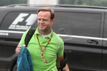 World © Octane Photographic Ltd. Sunday 20th July 2014. German GP, Hockenheim. - Formula 1 Pitlane. Rubens Barrichello. Digital Ref: