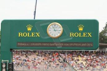 World © Octane Photographic Ltd. Sunday 20th July 2014. GP2 Race 2 – German GP - Hockenheim. Rolex time board. Digital Ref : 1050CB7D5969