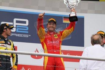 World © Octane Photographic Ltd. Sunday 20th July 2014. GP2 Race 2 – German GP - Hockenheim. Stefano Coletti - Racing Engineering (1st). Digital Ref : 1050CB7D6032