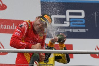 World © Octane Photographic Ltd. Sunday 20th July 2014. GP2 Race 2 – German GP - Hockenheim. Stefano Coletti - Racing Engineering (1st) and Felipe Nasr - Carlin (2nd). Digital Ref : 1050CB7D6119