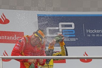 World © Octane Photographic Ltd. Sunday 20th July 2014. GP2 Race 2 – German GP - Hockenheim. Stefano Coletti - Racing Engineering (1st) and Felipe Nasr - Carlin (2nd). Digital Ref : 1050CB7D6121