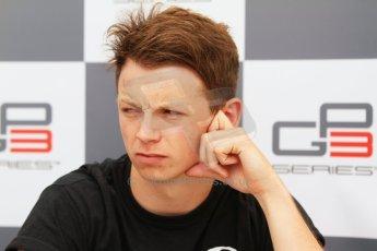 World © Octane Photographic Ltd. Saturday 19th July 2014. GP3 Qualifying Session press conference. German GP, Hockenheim. Nick Yelloly - Status Grand Prix (3rd). Digital Ref : 1041CB7D5354