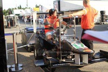 World © Octane Photographic Ltd. Saturday 19th July 2014. GP3 Race 1 press conference. German GP, Hockenheim. Riccardo Agostini - Hilmer Motorsport. Digital Ref : 1047CB7D6362
