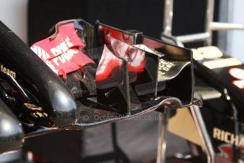 World © Octane Photographic Ltd. Saturday 19th July 2014. German GP, Hockenheim. - Formula 1 Qualifying. Lotus F1 Team E22 front wing detail. Digital Ref: