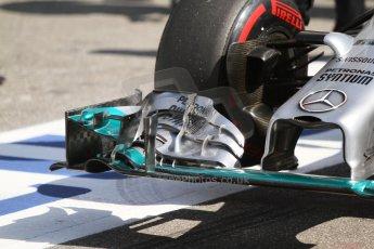 World © Octane Photographic Ltd. Saturday 19th July 2014. German GP, Hockenheim. - Formula 1 Qualifying. Mercedes AMG Petronas F1 W05 Hybrid front wing. Digital Ref: