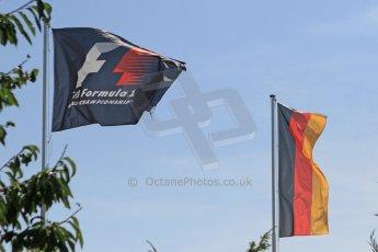 World © Octane Photographic Ltd. Saturday 19th July 2014. F1 and German flags. Digital Ref: