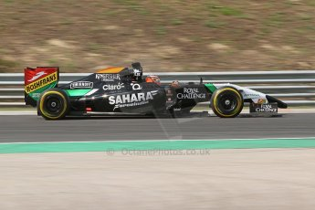 World © Octane Photographic Ltd. Friday 25th July 2014. Hungarian GP, Hungaroring - Budapest. - Formula 1 Practice 2. Sahara Force India VJM07 – Nico Hulkenburg. Digital Ref : 1057CB7D6826