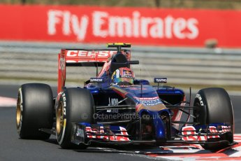 World © Octane Photographic Ltd. 2014 Friday 25th July 2014. Hungarian GP, Hungaroring - Budapest. Practice 2. Scuderia Toro Rosso STR 9 – Daniil Kvyat. Digital Ref: 1057LB1D0050