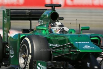 World © Octane Photographic Ltd. Friday 25th July 2014. Hungarian GP, Hungaroring - Budapest. - Formula 1 Practice 2. Caterham F1 Team CT05 – Kamui Kobayashi. Digital Ref: 1057LB1D0238