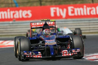 World © Octane Photographic Ltd. 2014 Friday 25th July 2014. Hungarian GP, Hungaroring - Budapest. Practice 2. Scuderia Toro Rosso STR 9 – Daniil Kvyat. Digital Ref: 1057LB1D0399
