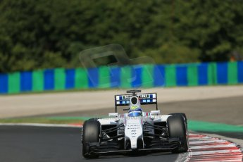 World © Octane Photographic Ltd. 2014 Saturday 26th July 2014. Hungarian GP, Hungaroring - Budapest. Practice 3. Williams FW36 – Felipe Massa. Digital Ref: 1064LB1D1127