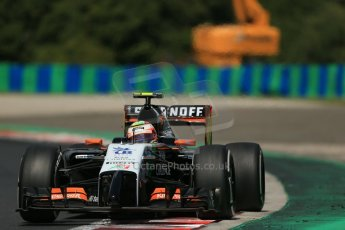 World © Octane Photographic Ltd. 2014 Saturday 26th July 2014. Hungarian GP, Hungaroring - Budapest. Practice 3. Sahara Force India VJM07 – Sergio Perez. Digital Ref: 1064LB1D1242