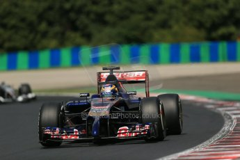 World © Octane Photographic Ltd. 2014 Saturday 26th July 2014. Hungarian GP, Hungaroring - Budapest. Practice 3. Scuderia Toro Rosso STR9 - Jean-Eric Vergne. Digital Ref: 1064LB1D1369