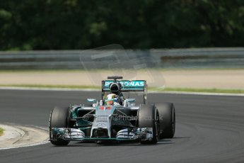 World © Octane Photographic Ltd. Saturday 26th July 2014. Hungarian GP, Hungaroring - Budapest. Practice 3. Mercedes AMG Petronas F1 W05 Hybrid – Lewis Hamilton. Digital Ref: 1064LB1D1735