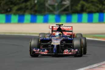 World © Octane Photographic Ltd. Saturday 26th July 2014. Hungarian GP, Hungaroring - Budapest. Practice 3. Scuderia Toro Rosso STR9 - Jean-Eric Vergne. Digital Ref: 1064LB1D1889