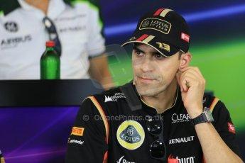 World © Octane Photographic Ltd. Thursday 24th July 2014. Hungarian GP, Hungaroring - Budapest - Formula 1 FIA Press Conference. Lotus F1 Team E22 – Pastor Maldonado. Digital Ref: 1054LB1D8902