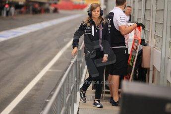 World © Octane Photographic Ltd. Tuesday 13th May 2014. Circuit de Catalunya - Spain - Formula 1 In-Season testing. Williams Martini Racing FW36 – Susie Wolff - Reserve Driver. Digital Ref: