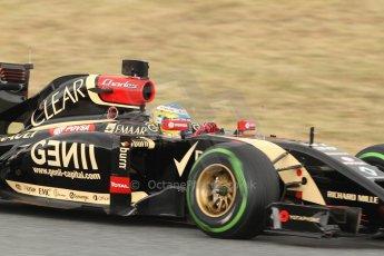 World © Octane Photographic Ltd. Tuesday 13th May 2014. Circuit de Catalunya - Spain - Formula 1 In-Season testing. Lotus F1 Team E22 – Charles Pic– Reserve Driver. Digital Ref: