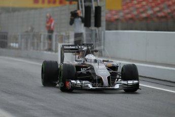World © Octane Photographic Ltd. Tuesday 13th May 2014. Circuit de Catalunya - Spain - Formula 1 In-Season testing. Sauber C33 – Giedo van der Garde - Reserve Driver. Digital Ref :