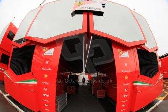 World © Octane Photographic Ltd. Tuesday 13th May 2014. Circuit de Catalunya - Spain - Formula 1 In-Season testing. Scuderia Ferrari engineering motorhome. Digital Ref: