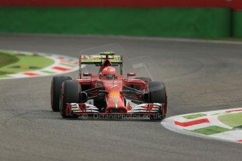 World © Octane Photographic Ltd. Friday 5th September 2014, Italian GP, Monza - Italy - Formula 1 Practice 1. Scuderia Ferrari F14T – Kimi Raikkonen. Digital Ref: 1094LB1D3130