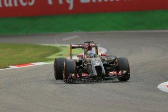 World © Octane Photographic Ltd. Friday 5th September 2014, Italian GP, Monza - Italy  - Formula 1 Practice 1. Lotus F1 Team E22 - Charles Pic, Reserve driver. Digital Ref: 1094LB1D3184