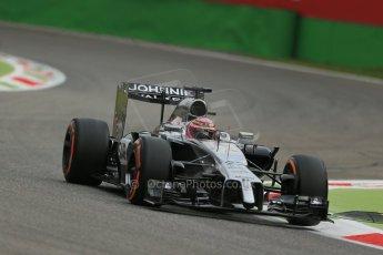 World © Octane Photographic Ltd. Friday 5th September 2014, Italian GP, Monza - Italy  - Formula 1 Practice 1. McLaren Mercedes MP4/29 - Jenson Button. Digital Ref: 1094LB1D3231