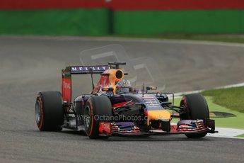 World © Octane Photographic Ltd. Friday 5th September 2014, Italian GP, Monza - Italy Formula 1 Practice 1. Infiniti Red Bull Racing RB10 - Sebastian Vettel. Digital Ref: 1094LB1D3552