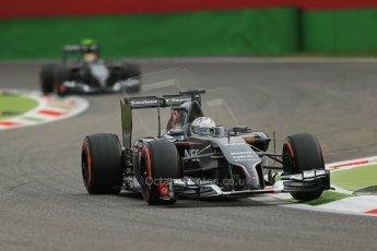 World © Octane Photographic Ltd. Friday 5th September 2014, Italian GP, Monza - Italy - Formula 1 Practice 1. Sauber C33 – Giedo van der Garde and Esteban Gutierrez. Digital Ref : 1094LB1D3561