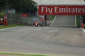 World © Octane Photographic Ltd. Friday 5th September 2014, Italian GP, Monza - Italy - Formula 1 Practice 1. Scuderia Ferrari F14T – Kimi Raikkonen. Digital Ref: 1094LB1D3592