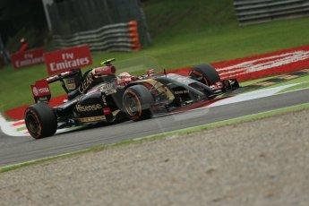 World © Octane Photographic Ltd. Friday 5th September 2014, Italian GP, Monza - Italy - Formula 1 Practice 1. Lotus F1 Team E22 – Pastor Maldonado. Digital Ref: 1094LB1D3760