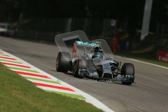 World © Octane Photographic Ltd. Friday 5th September 2014, Italian GP, Monza - Italy. - Formula 1 Practice 2. Mercedes AMG Petronas F1 W05 Hybrid - Nico Rosberg. Digital Ref: 1097LB1D4199