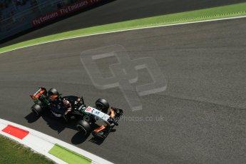 World © Octane Photographic Ltd. Saturday 6th September 2014, Italian GP, Monza - Italy. - Formula 1 Practice 3. Sahara Force India VJM07 – Nico Hulkenburg. Digital Ref : 1100LB1D5650