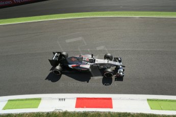 World © Octane Photographic Ltd. Saturday 6th September 2014, Italian GP, Monza - Italy. - Formula 1 Practice 3. Sauber C33 – Adrian Sutil. Digital Ref: 1100LB1D5907