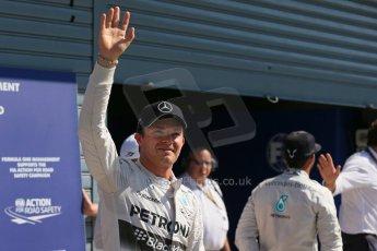 World © Octane Photographic Ltd. Saturday 6th September 2014, Italian GP, Monza - Italy. - Formula 1 Qualifying Parc Ferme. Mercedes AMG Petronas F1 W05 Hybrid - Nico Rosberg (2nd). Digital Ref: 1106LB1D6366