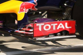 World © Octane Photographic Ltd. Saturday 6th September 2014, Italian GP, Monza - Italy - Formula 1 Qualifying. Infiniti Red Bull Racing RB10 front wing. Digital Ref: 1096CB7D0036