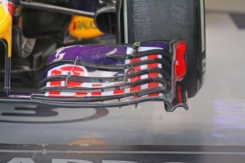 World © Octane Photographic Ltd. Sunday 7th September 2014, Italian GP, Monza - Italy  - Formula 1 Race Preparation. Infiniti Red Bull Racing RB10 front wing detail. Digital Ref : 1096CB7D0405