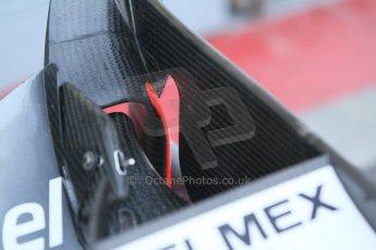 World © Octane Photographic Ltd. Sunday 7th September 2014, Italian GP, Monza - Italy  - Formula 1 Race Preparation. Sauber C33 front wing detail. Digital Ref :