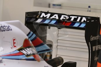 World © Octane Photographic Ltd. Sunday 7th September 2014, Italian GP, Monza - Italy  - Formula 1 Race Preparation. Williams Martini Racing FW36 rear wing. Digital Ref :