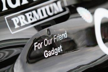 "World © Octane Photographic Ltd. Friday 5th September 2014, Italian GP, Monza - Italy - Formula 1 Practice 1. Sahara Force India VJM07 ""For our friend Gadget"". Digital Ref : 1096CB7D8851"