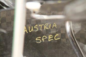 World © Octane Photographic Ltd. Friday 5th September 2014, Italian GP, Monza - Italy - Formula 1 Practice 1. Sahara Force India VJM07 side pod internal markings. Digital Ref : 1096CB7D8852
